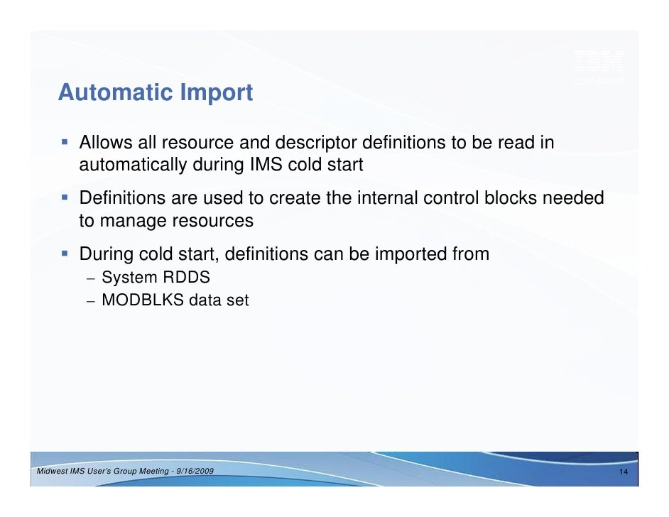 Dynamic Resource Definition for IMS