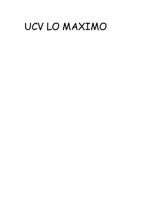 UCV LO MAXIMO