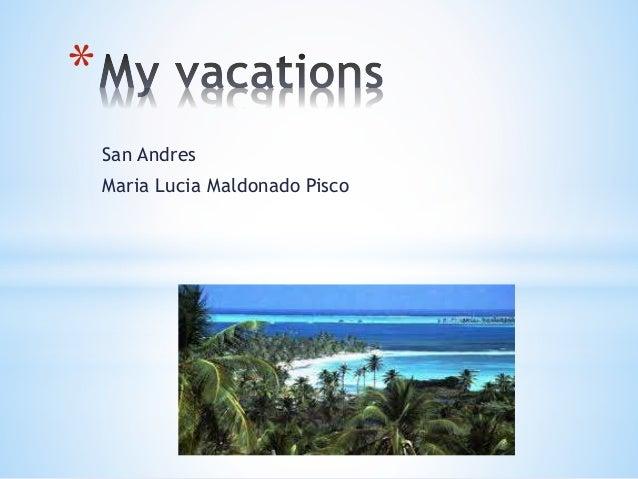 San Andres Maria Lucia Maldonado Pisco *