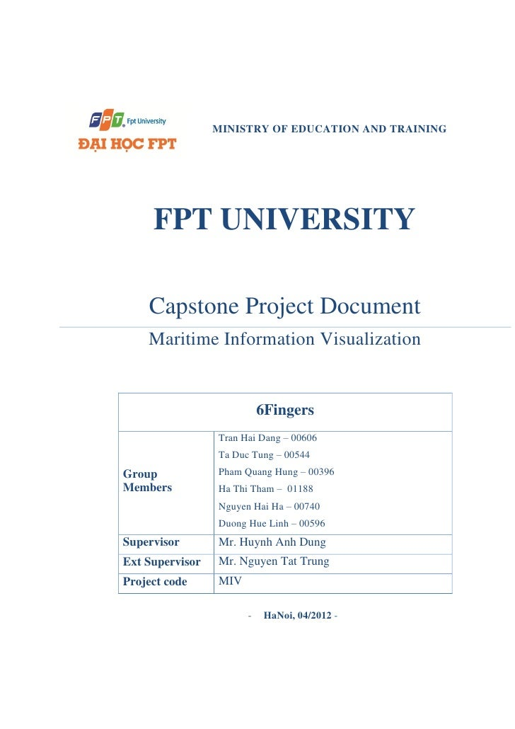 MINISTRY OF EDUCATION AND TRAINING     FPT UNIVERSITY    Capstone Project Document    Maritime Information Visualization  ...