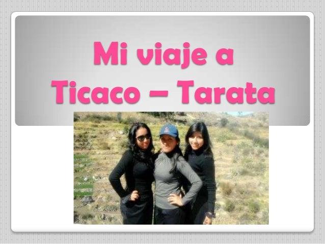 Mi viaje a Ticaco – Tarata