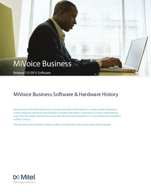 MiVoice Business Software Versions Through Time