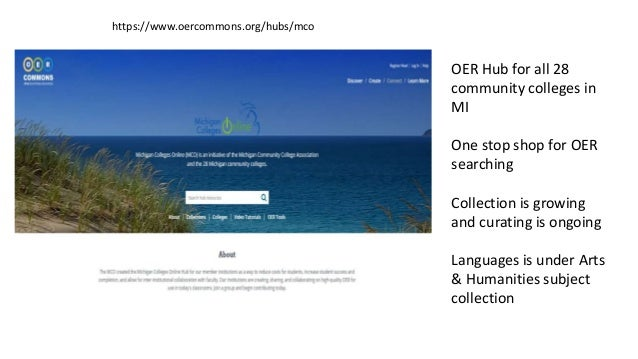 Sources for Language Learning OER Language Centers and Institutional Archives