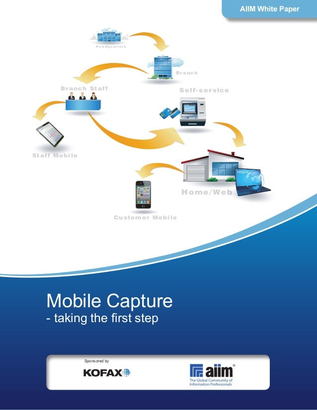 Home/Web Branch Headquarters Branch Staff Staff Mobile Customer Mobile Self-service Mobile Capture - taking the first step...