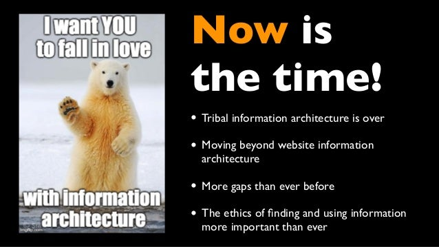 Falling in and out and in love with Information Architecture