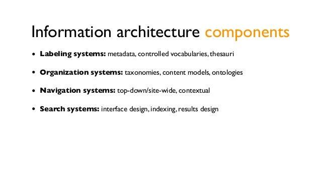 Information architecture  is always present