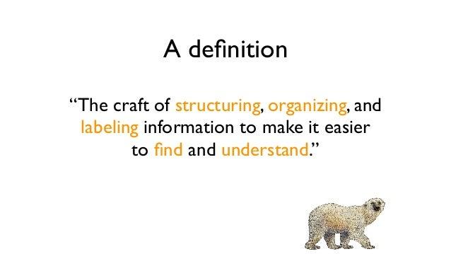 Information architecture  ingredients