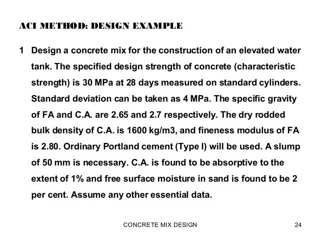 Methods of concrete mix design: 5 methods | concrete technology.