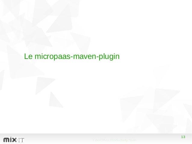 13 LibreOffice Productivity Suite 13 Le micropaas-maven-plugin