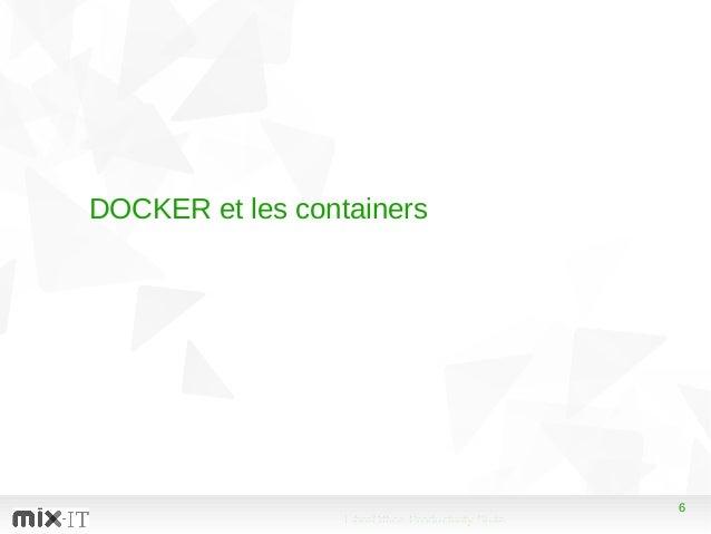 6 LibreOffice Productivity Suite 6 DOCKER et les containers