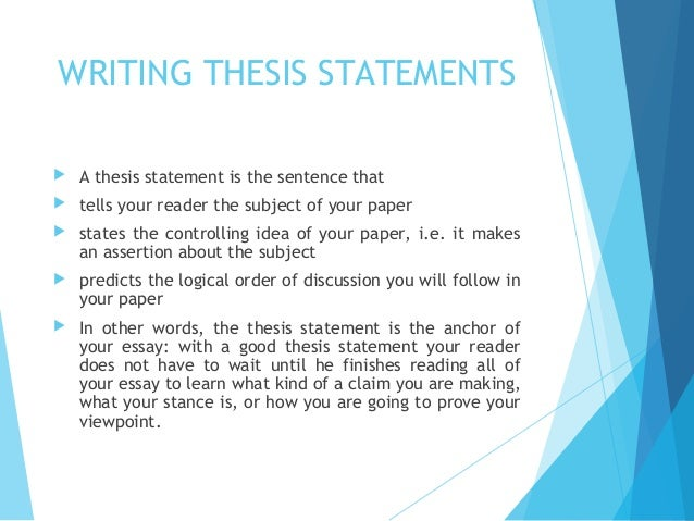 declarative thesis sentence Get an answer for 'why is a thesis statement one declarative sentence with twenty five words or less' and find homework help for other how to write a research paper.
