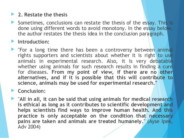 the ethics of medical animal testing essay An essay applying utilitarianism to animal testing the ethics of animal testing animal testing consists of any medical test performed on an animal.