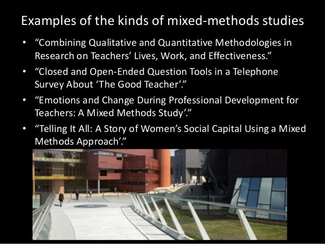 Mixed methods research combined