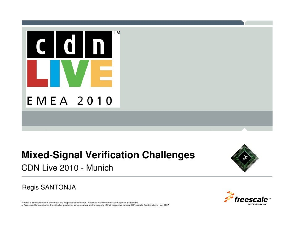 Mixed signal verification challenges - slides