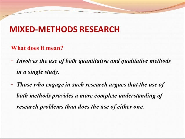 mixed method research This article reports on the integrated findings of an exploratory sequential mixed  methods research design aimed to understand data.