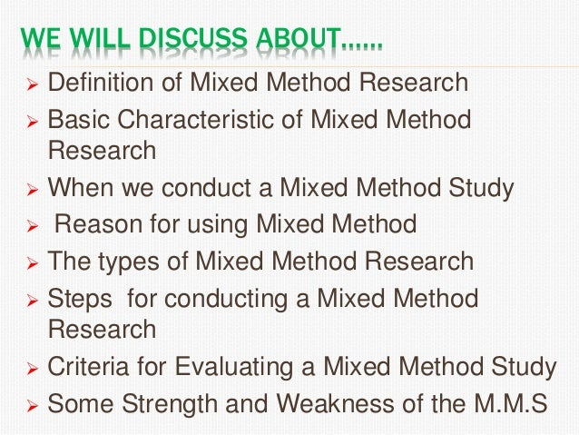 Mixed method research Slide 3