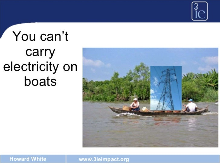 You can't carry electricity on boats