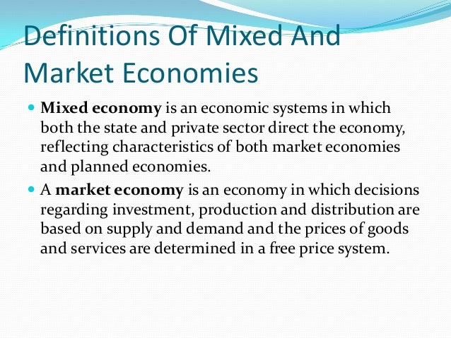 What is the difference between a command economy and a mixed economy?