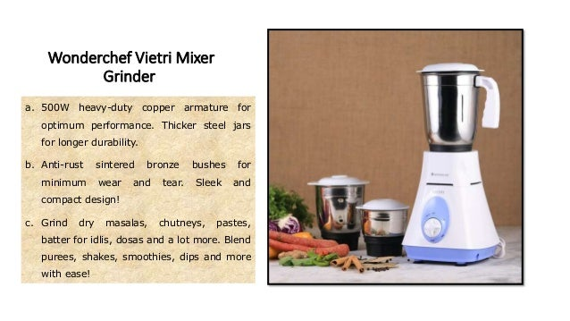 3 Set Speeds a. The mixer grinder comes equipped with three pre- programmed speed settings for different grinding needs. b...