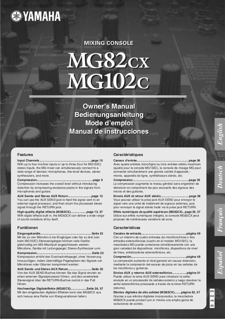 Yamaha mg102c 10ch pa mixer w/ compression | pssl.