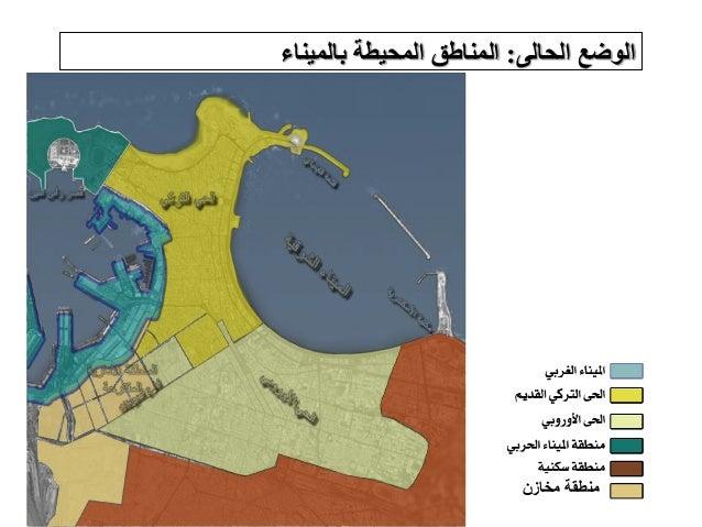 الحالى الوضع:بالميناء المحيطة المناطق مخازن منطقة