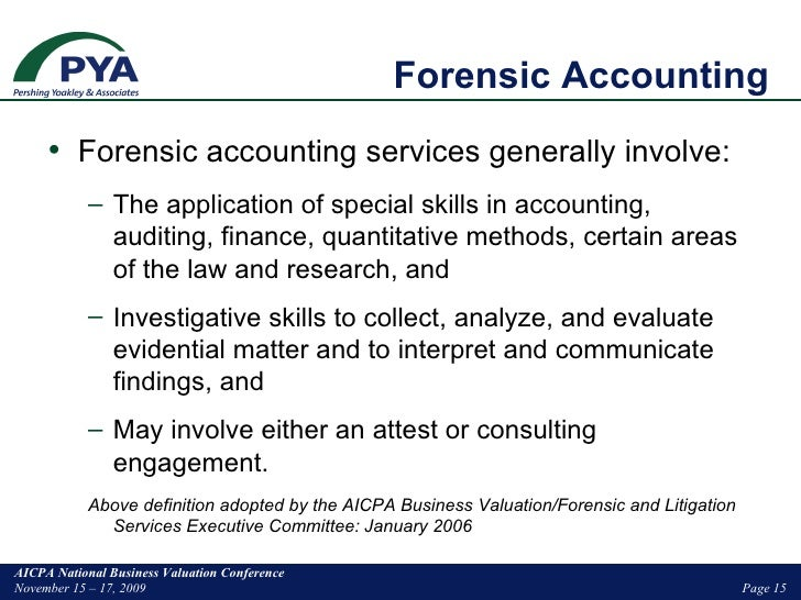 Mixing Forensic Acctg And Valuation In Litigation