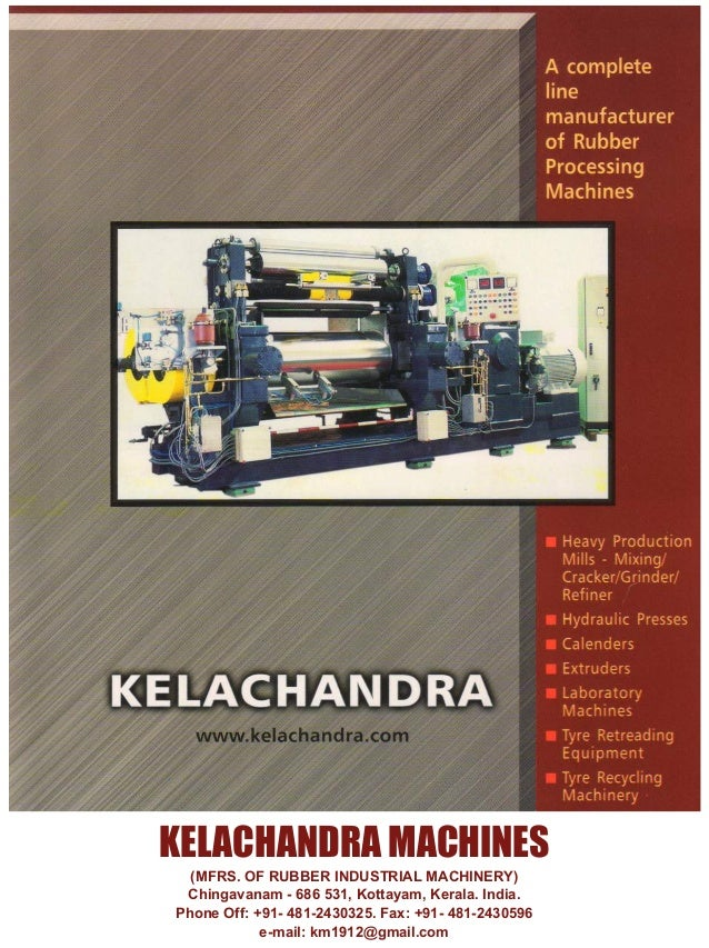 Special Supplement - Rubber Machinery World SEP 2015  Criterion Please Answer Descriptively if needed Production Requireme...