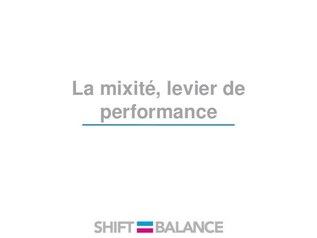 La mixité, levier de performance