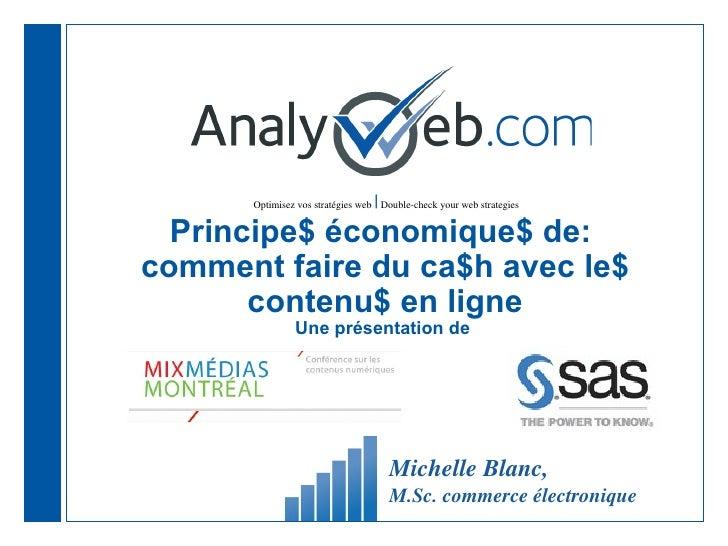 |      Optimisez vos stratégies web Double-check your web strategies  Principe$ économique$ de:comment faire du ca$h avec ...