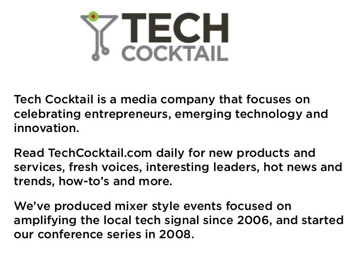 Tech Cocktail Startup Mixology Conference - DC 2011
