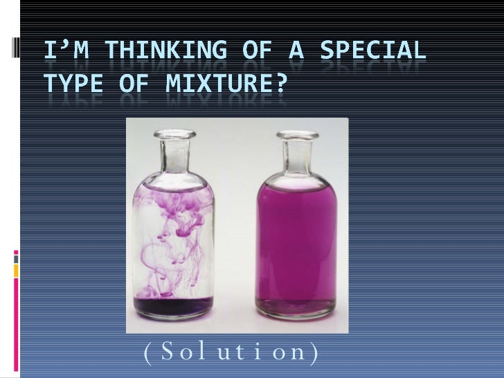 Mixtures Examples And Non Examples