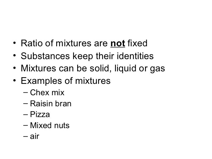 Mixtures, solutions, elements, compounds