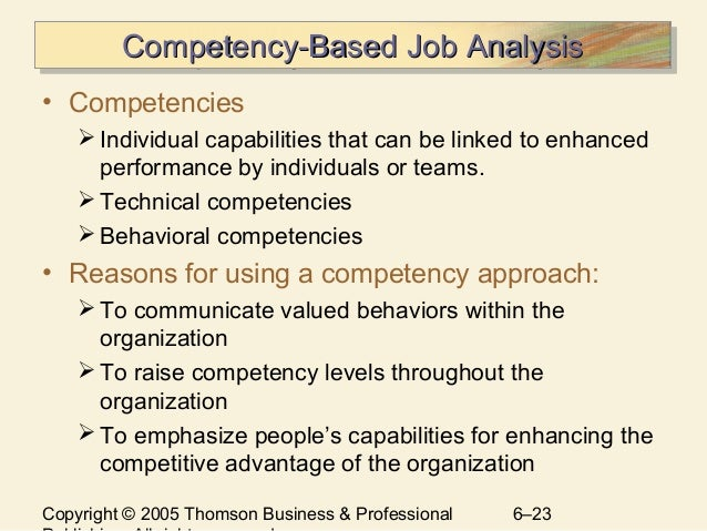 competency analysis