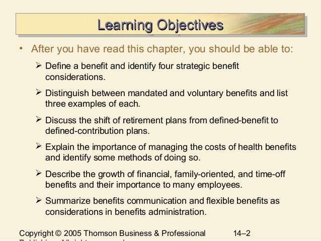 chapter 14 managing employee benefits