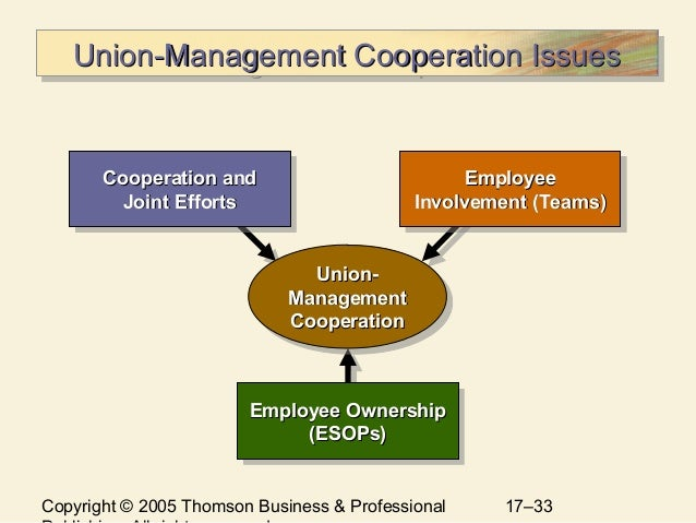 union management relationship Executive officer leadership: cultivating effective union-management  relationships january 2018 battalion chief jo-ann lorber in almost all  organizations.