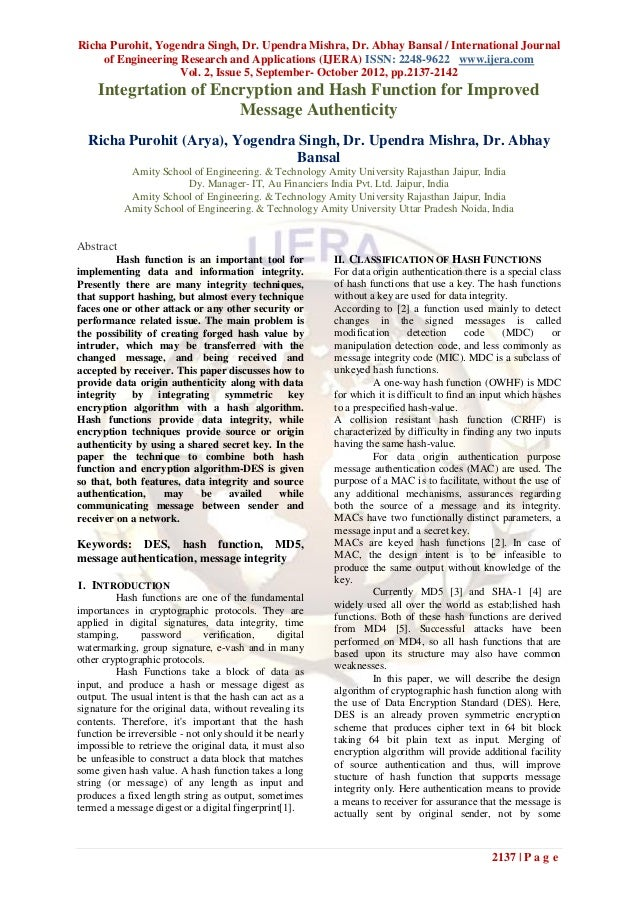 Richa Purohit, Yogendra Singh, Dr. Upendra Mishra, Dr. Abhay Bansal / International Journal    of Engineering Research and...