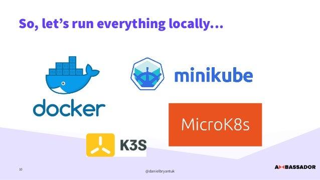 @danielbryantuk So, let's run everything locally… 10