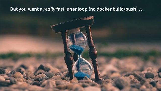 @danielbryantuk tl;dr 8 But you want a really fast inner loop (no docker build/push) …