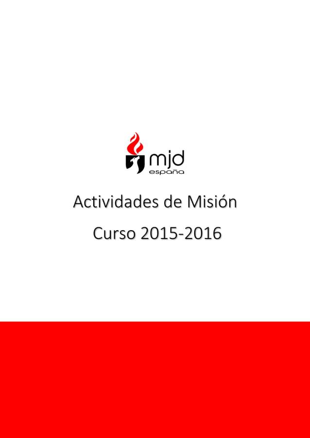 Actividades de Misión Curso 2015-2016