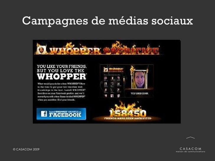 Campagnes de médias sociaux