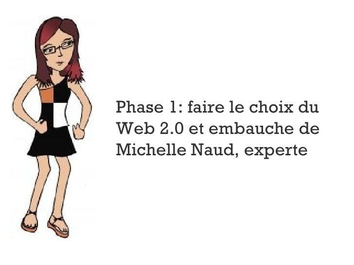 Phase 1: faire le choix du Web 2.0 et embauche de Michelle Naud, experte