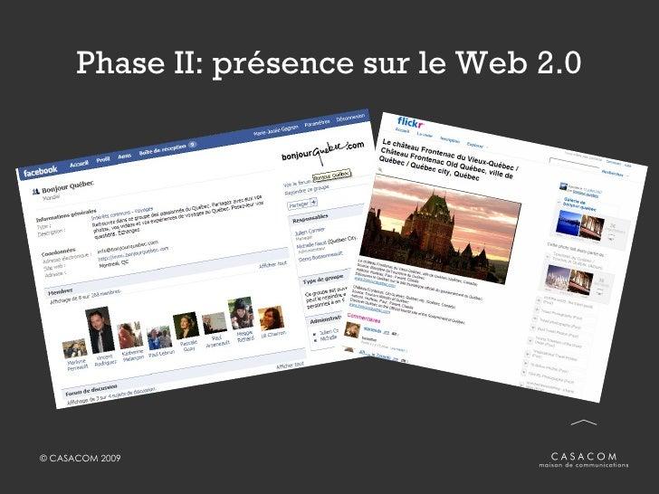 Phase II: présence sur le Web 2.0