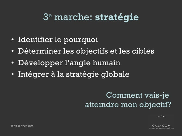 5 e  marche:  promotion <ul><li>1000 possibilités… </li></ul><ul><li>Blogue </li></ul><ul><li>Site participatif ou applica...