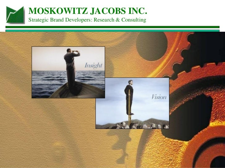 MOSKOWITZ JACOBS INC. Strategic Brand Developers: Research & Consulting