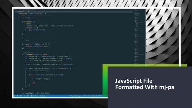 1 JavaScript File Formatted With mj-pa
