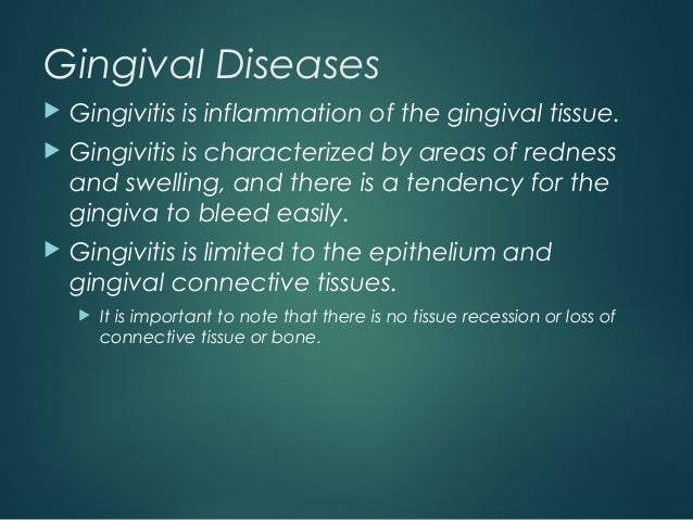 gingival and periodontal diseases