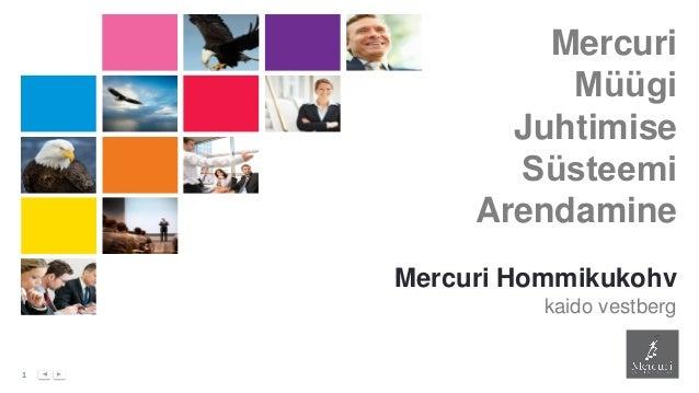 1 Mercuri Müügi Juhtimise Süsteemi Arendamine Mercuri Hommikukohv kaido vestberg
