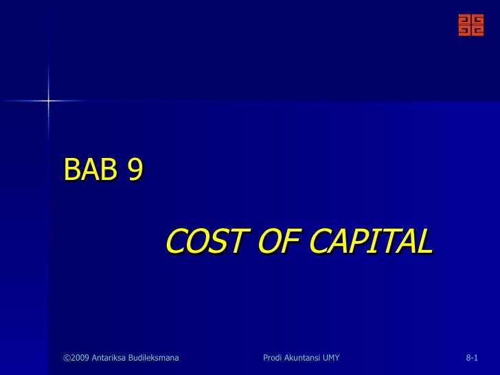 BAB 9 COST OF CAPITAL