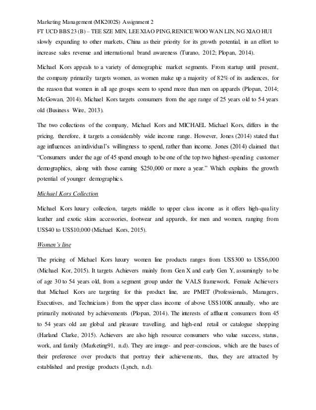 Marketing Management (MK2002S) Assignment 2 FT UCD BBS 23 (B) – TEE SZE MIN, LEE XIAO PING,RENICE WOO WAN LIN,NG XIAO HUI ...