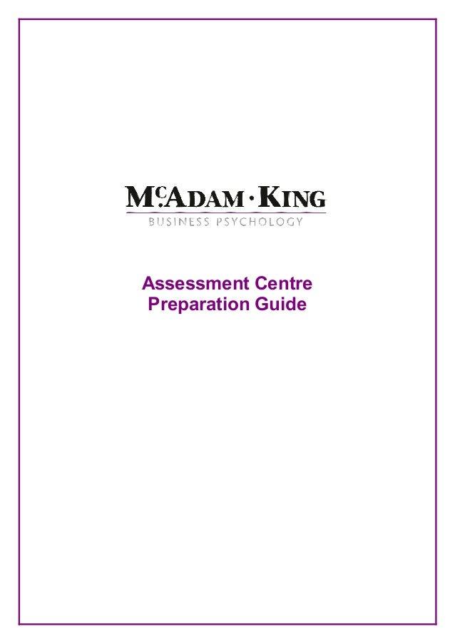 Assessment Centre Preparation Guide